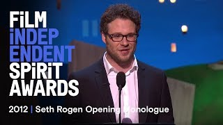 Host Seth Rogen Kicks off the 2012 Spirit Awards