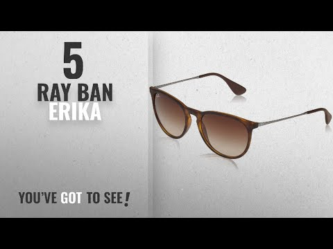 top-10-ray-ban-erika-[-winter-2018-]:-ray-ban-erika-women's-wayfarer-sunglasses,rubber-havana,54mm
