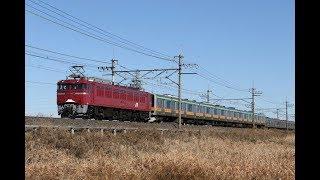 【汽笛あり•配給輸送】 EF81-140+八高線E231系 4両 東川口~東浦和通過