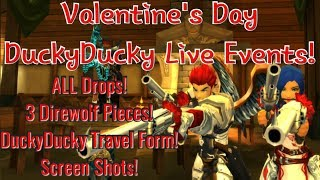AQ3D Valentine's Day, DuckyDucky LIVE Events 2019! All Drops! DuckyDucky Feather Travel Form!