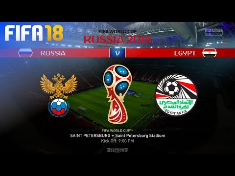 FIFA 18 World Cup - Russia vs. Egypt @ Saint Petersburg Stadium (Group A)