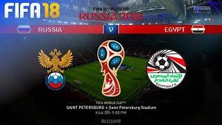 FIFA 18 World Cup - Russia vs. Egypt @ Saint Petersburg Stadium (Group A)