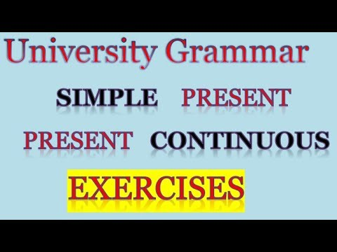 Exercises Series 2: Present Simple And Continuous تمارين مع التصحيح