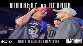 KOTD - Rap Battle - Dizaster vs Arcane (Title Match) *Co-Hosted By Drake*