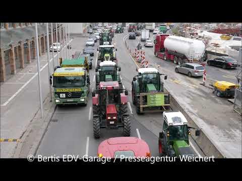 Bauernprotest 1000 Traktoren