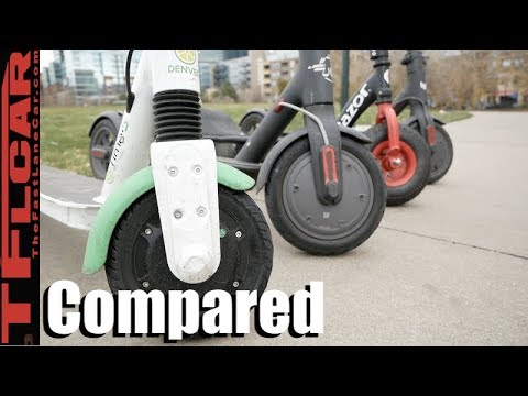 Compared & Tested: 4 Different Ride Sharing E-Scooters - Which Is Best and Worst!