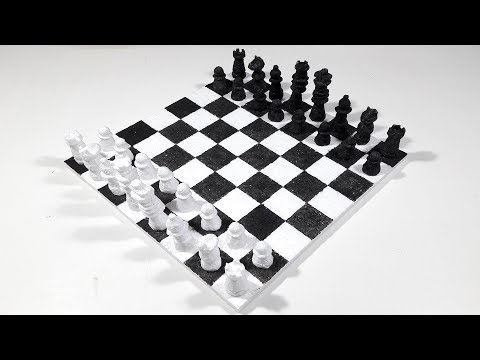 How To Make A Chessboard From Thermocol-DIY Chessboard