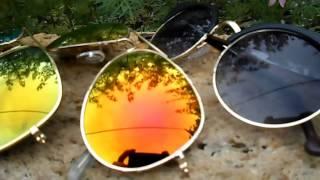 Зеркальные очки Ray Ban Aviator  Видео обзор