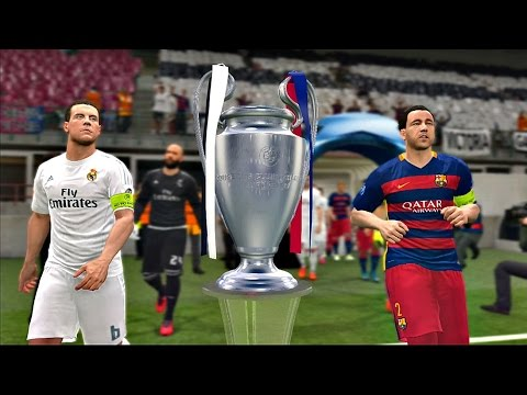 FINAL UEFA CHAMPIONS LEAGUE FC Barcelona vs Real Madrid | PES 2016 Become a Legend #99