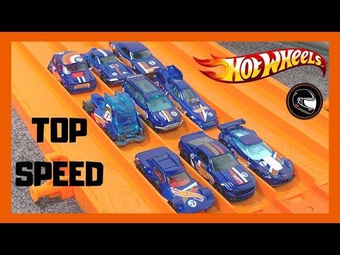 Hot Wheels Race Team Series TOP SPEED CHECK!!!