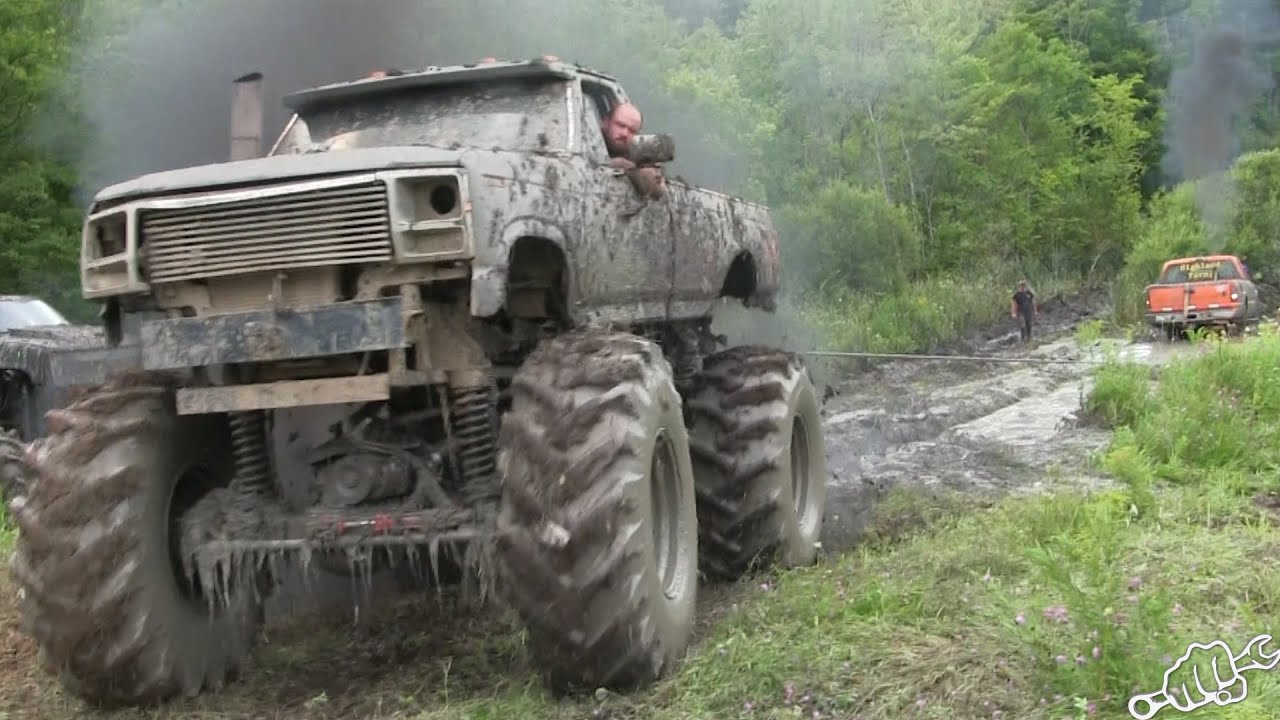 Mega Trucks Go Powerline Mudding In New York Youtube