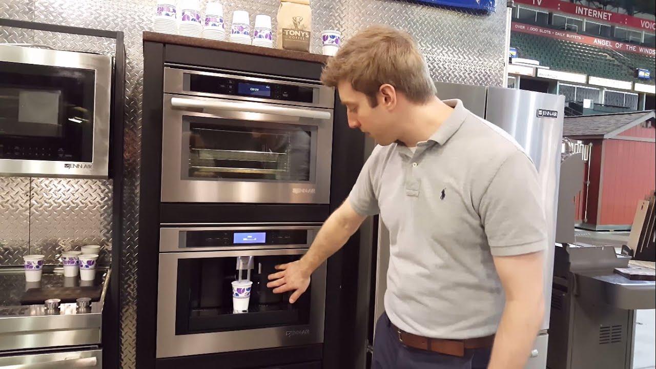 jenn air built in coffee maker demo