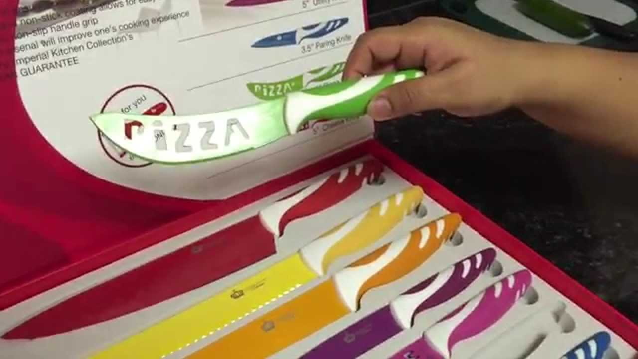 imperial kitchen collection colorful knife set youtube