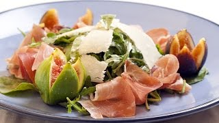 Fig, Prosciutto and Parmesan Arugula Salad Recipe