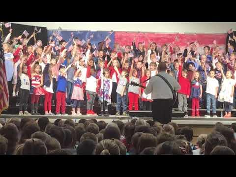 Runyon Elementary School Veteran's Day Concert 2017 - song 2