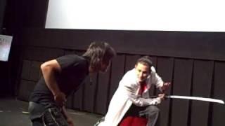 Tak Sakaguchi (坂口拓) and Isao Karasawa engaged in a friendly duel...