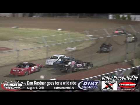 Princeton Speedway 8/5/16 Dan Kastner Roll Over