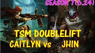TSM Doublelift Caitlyn vs Jhin 【LOL】【Pro replay game】