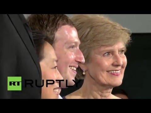Germany: Mark Zuckerberg receives Axel Springer Award in Berlin