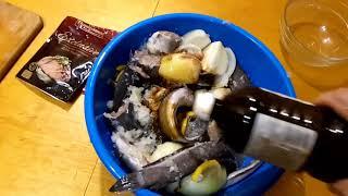 Рецепт шашлыка с мраморного сома к новогодниму столу