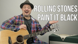 "How to Play ""Paint it Black"" by The Rolling Stones on Guitar"