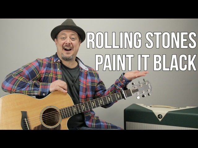 How to Play Paint it Black by The Rolling Stones on Guitar