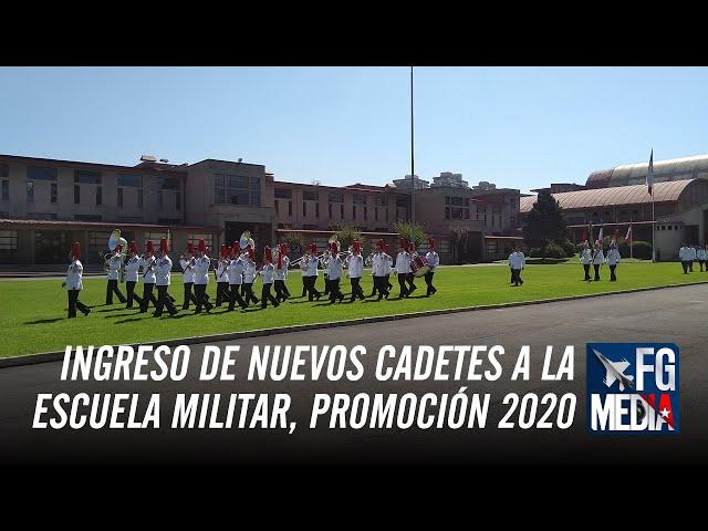 Ceremonia de Ingreso de nuevos cadetes a la Escuela Militar, Promoción 2020, el pasado 9 de marzo.