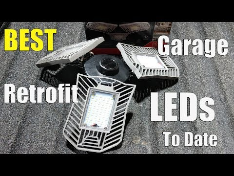 Best Garage Lighting! You Need These Bright LED Lights For Your Garage, Barn, Basement Or Shop