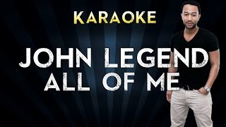 Gambar cover John Legend - All of Me | Official Karaoke Instrumental Lyrics Cover Sing Along
