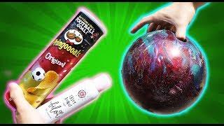 Experiment - BILOU Duschschaum vs BOWLING KUGEL vs Pringles