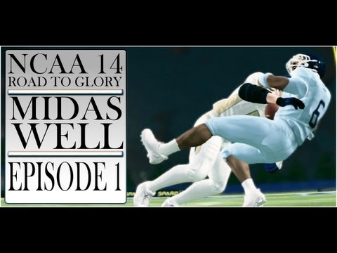 NCAA FOOTBALL 14: MIDAS WELL (DE) ROAD TO GLORY [Ep1]