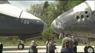 Rare Space: Shuttles Nose to Nose, Say Goodbye