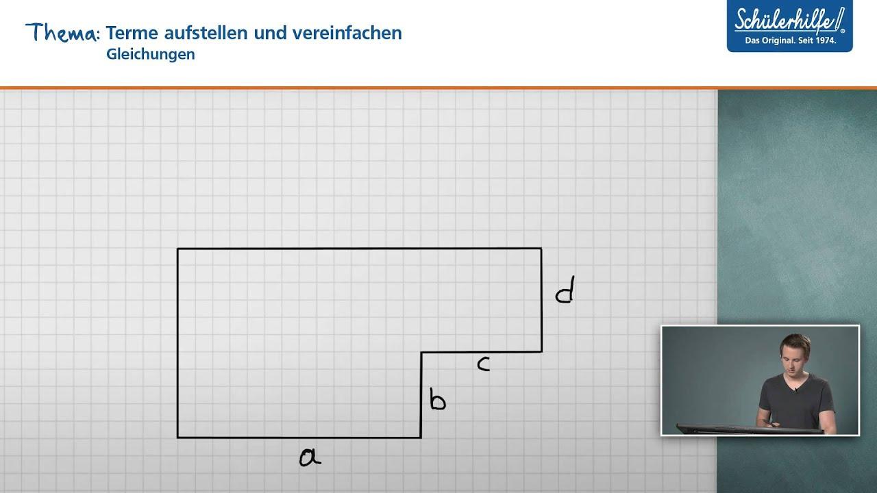 Terme aufstellen / vereinfachen // Gleichungen // Mathematik ...
