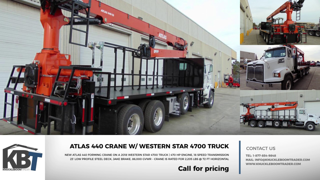 For Sale Atlas 440 Concrete Forming Crane Truck Youtube
