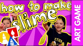 How To Make Slime + Slime Sculpting Challenge