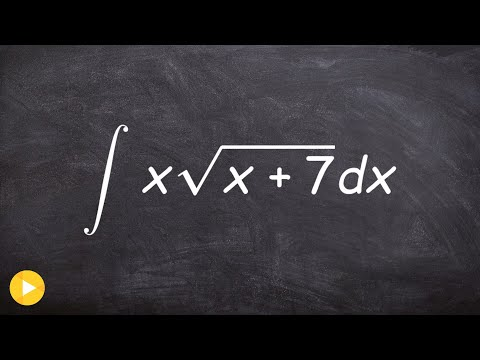 Evaluate The Integral With The Square Root Using U Substitution