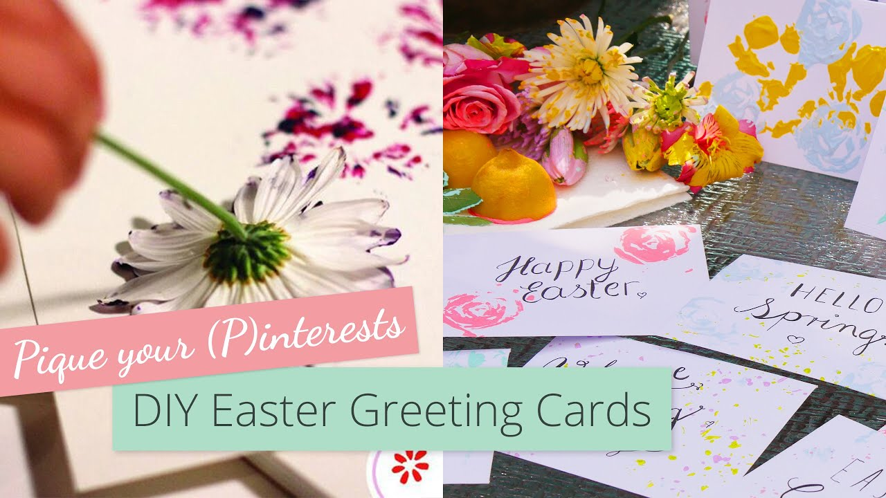 Diy Easter Greeting Cards Pique Your Pinterests Youtube