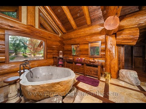 Gorgeous Log Home Bathroom Ideas - YouTube