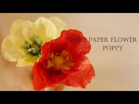 How To Make Tissue Paper Flower - Poppy