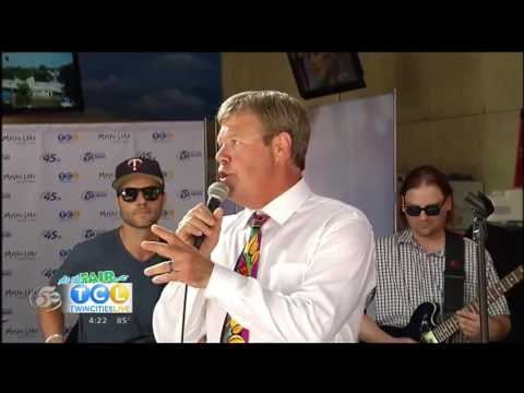 Barry with Hurricane Karaoke Band on Twin Cities Live