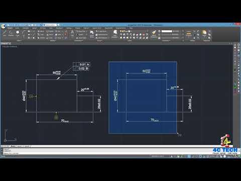 Hướng dẫn ghi dung sai khích thước và dung sai hình học trên progeCAD/ AutoCAD | Tolerance dimension