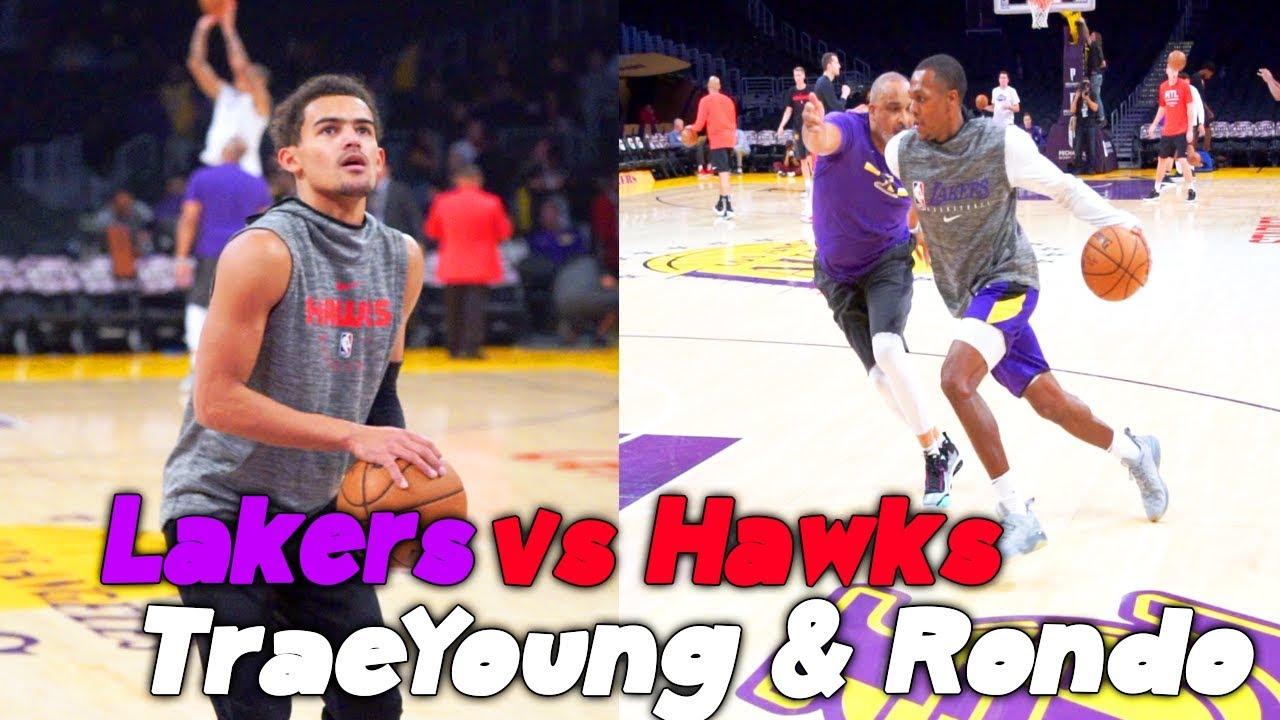 Lakers workout Rajon Rondo vs Atlanta Hawks Trae young