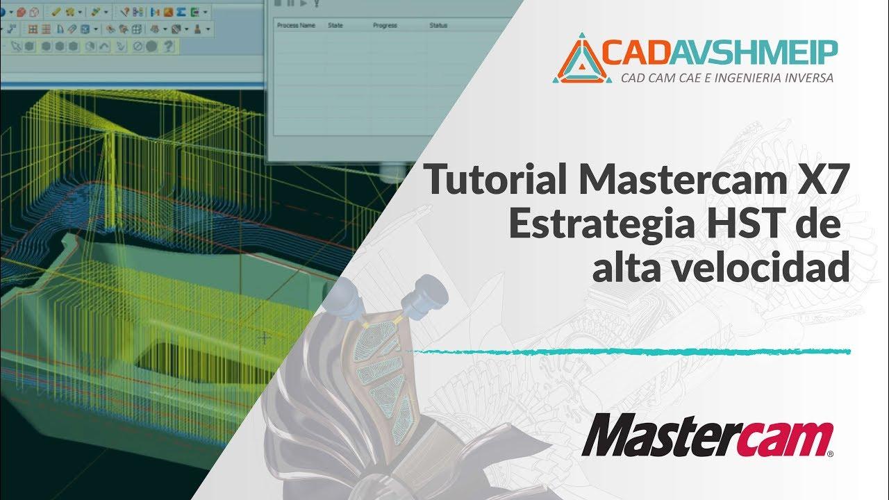 tutorial mastercam estrategia hst de alta velocidad youtube rh youtube com manual de mastercam x5 en español gratis manual de mastercam en español pdf