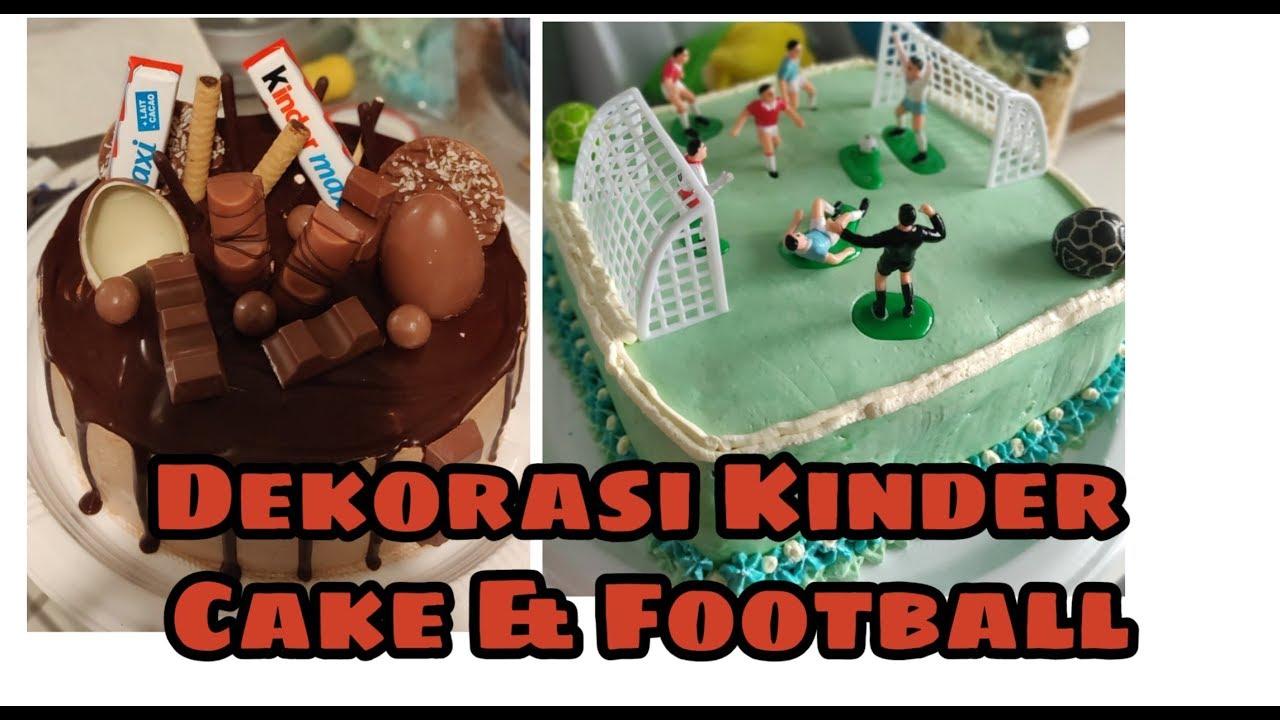 Kue Ulang Tahun Dengan Tema Lapangan Bola Kaki Coklat Kinder