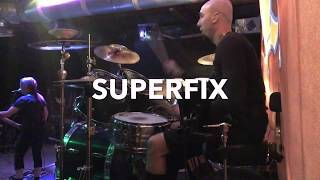 LIVE REHEARSAL-Pro Drummer Greg Collister With SUPERFIX