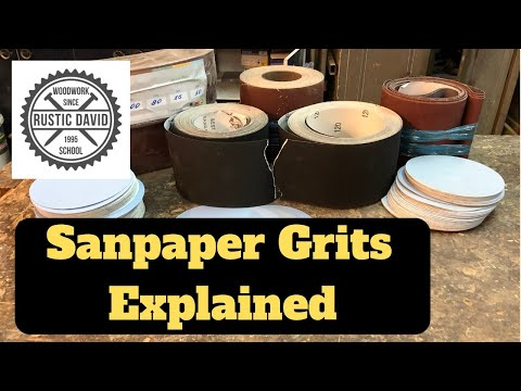Different Sandpaper Grits | and how to use them