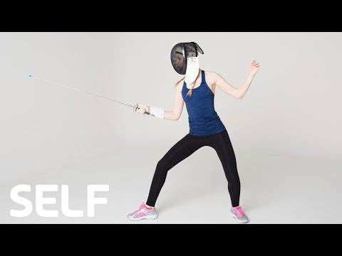 Unique Celebrity Workout: Fencing with Elena Kampouris