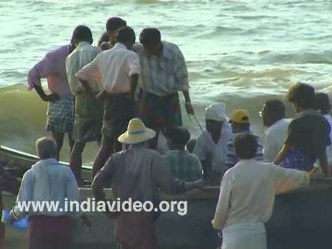 Catch laden boat at Nattika beach