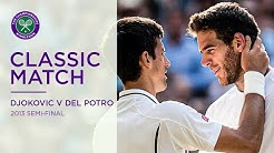 Novak Djokovic vs Juan Martin Del Potro | Wimbledon 2013 Semi-final Replayed