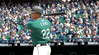 MLB 14 The Show (PS3): Indians vs Mariners Gameplay with Quick Count